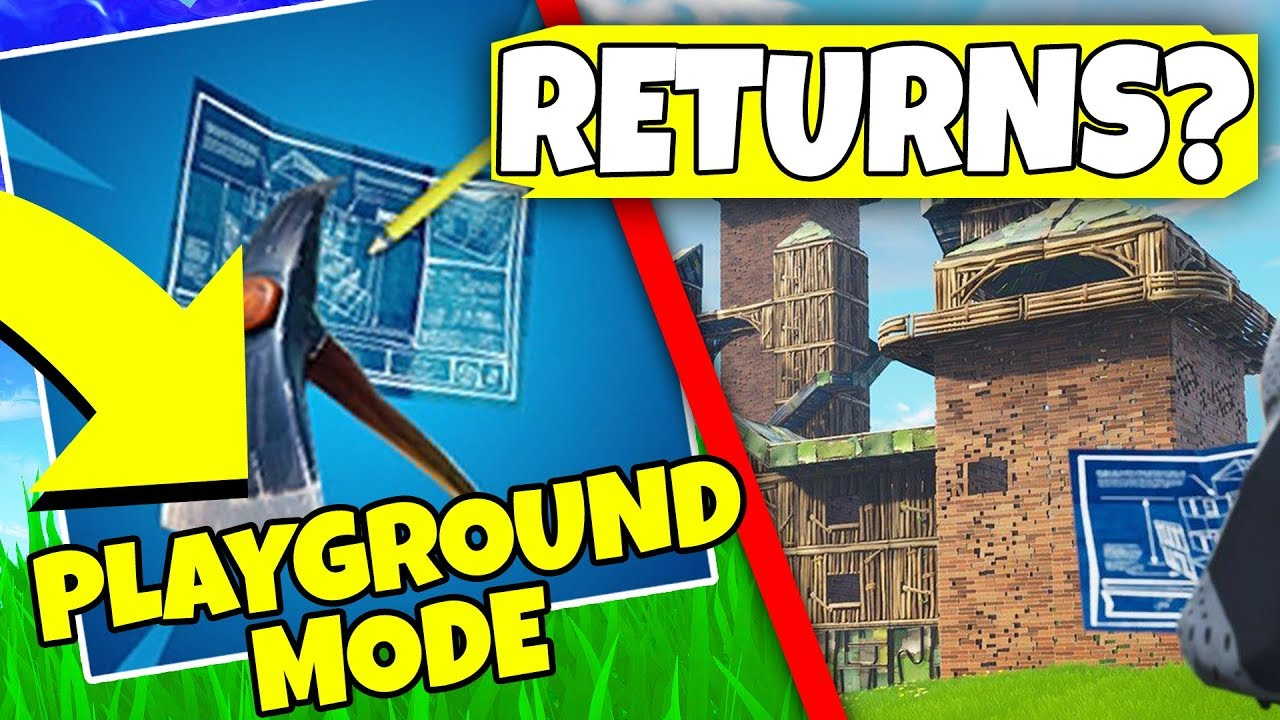 When Is Playground Mode Coming Out Fortnite Playground Ltm Update Fortnite Battle Royale