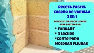 Receta Pastel De Vainilla Casero Riquísimo! - Madelin's Cakes