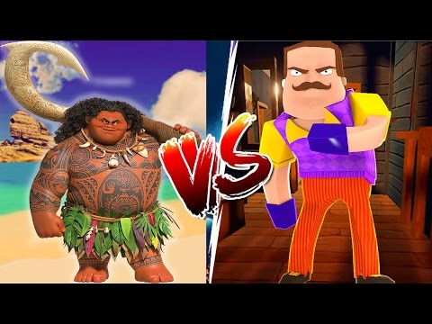 Minecraft Hello Neighbor - MOANA KILLS THE HELLO NEIGHBOR - Baby Max Custom modded mini game