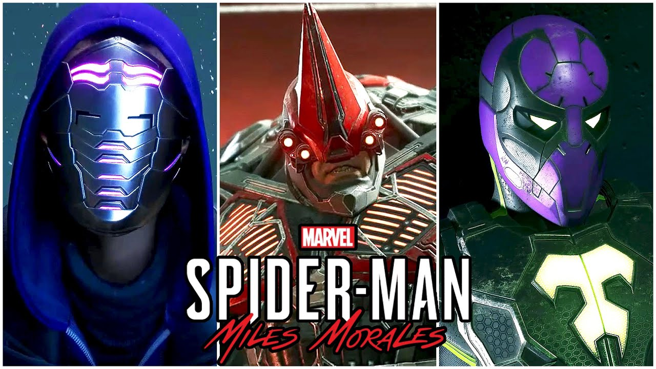 Spider-Man: Miles Morales - All Boss Fights & ENDING (PS4 PRO)
