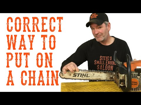 How To Put a Chainsaw Chain on Properly - Video