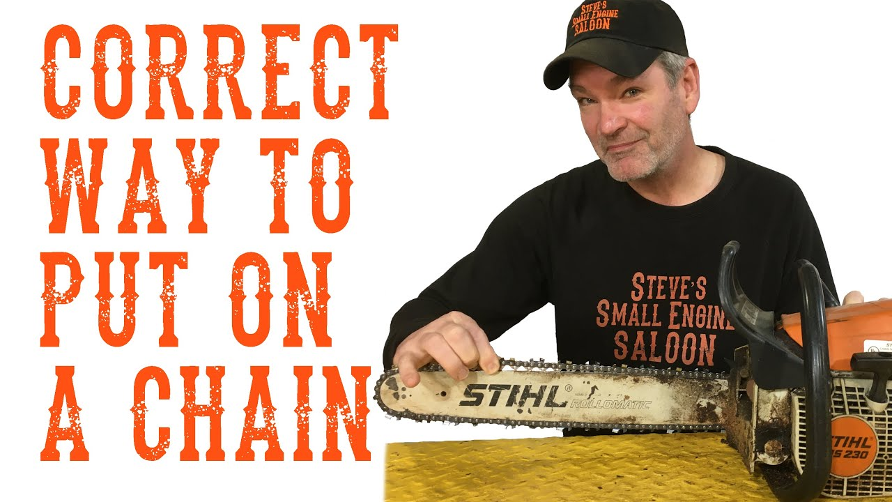 How do i put my chainsaw chain on properly youtube how do i put my chainsaw chain on properly greentooth Images