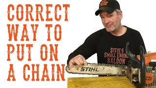 How to stihl chainsaw chain replacement ms251c clipzui how do i put my chainsaw chain on properly greentooth Gallery