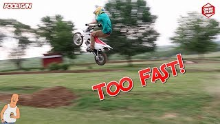 Made a 22ft Jump & Wrecked Brandon's Pit Bike