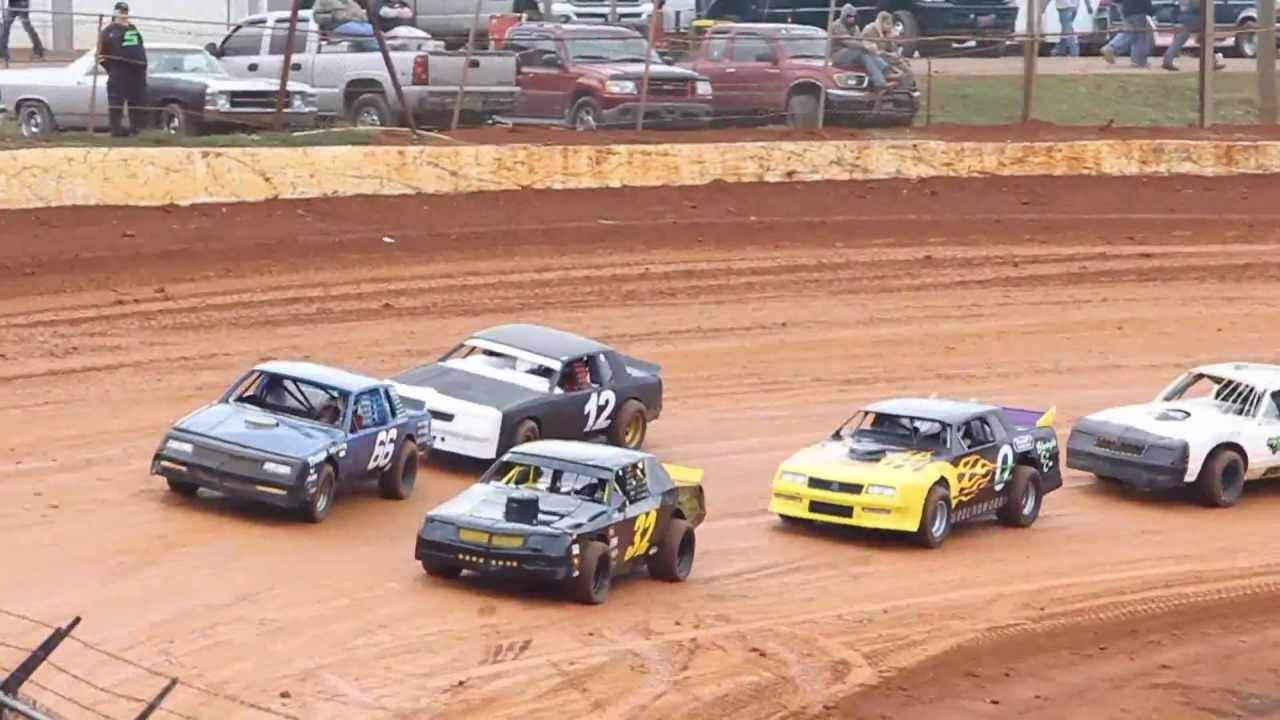 Dirt Track Racing 2/23/13 411 Motor Speedway Street Stock Heat ...