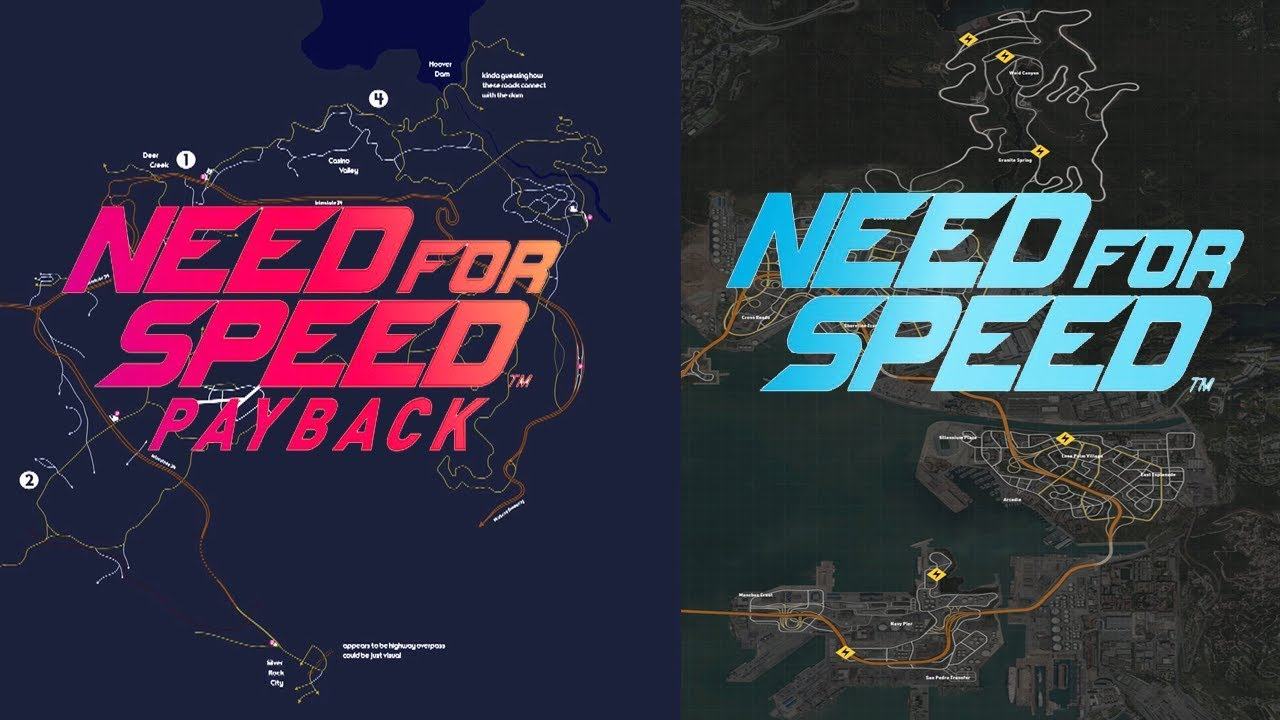 Need For Speed Payback Vs 2015 Map