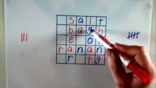 Letter Puzzle Game - Word Square