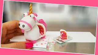 Mini FLUFFY UNICORN cake /real cake/ Jenny's mini cooking/ DIY / unicorn love tiny