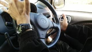 Toyota RAUM ручное управление