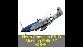 3D Model of North American P-51D Mustang - Petie 2nd Review