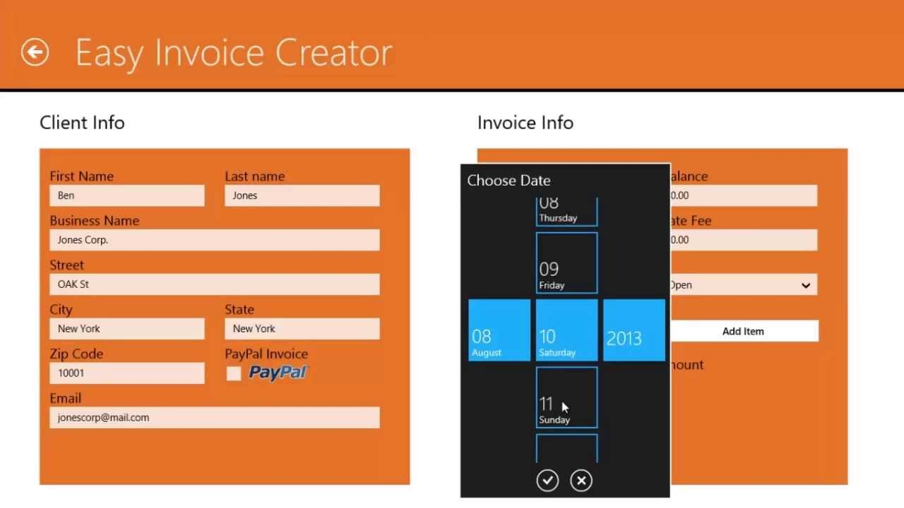easy invoice creator product demo youtube - Invoice Creator