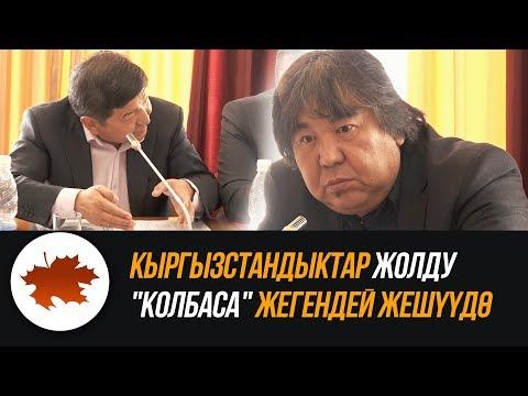 """видео: Кыргызстандыктар жолду """"колбаса"""" жегендей жешд"""