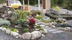 Mökkipuutarha - kivikkopuutarha