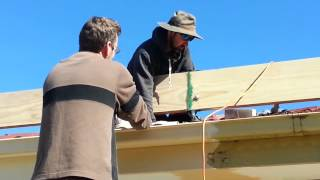 How To Build A Solid Pergola And Deck - Installing Timber Beams - Part 1 Of 2