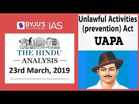 'The Hindu' Analysis for 23rd March, 2019. (Current Affairs for UPSC/IAS )