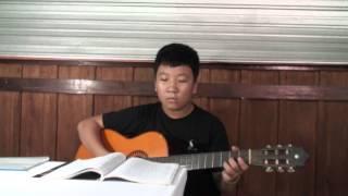 """Tiến Lộc chơi guitar bài """"Chiếc lá cuối cùng - Tuấn Khanh"""""""
