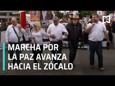 Caminata por la Paz avanza rumbo a Palacio Nacional en CDMX - Las Noticias