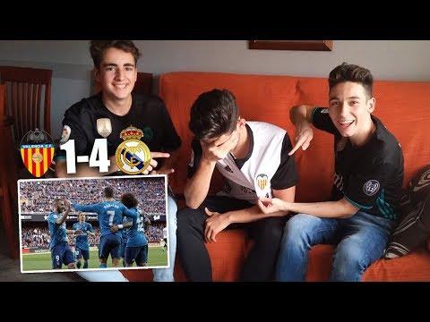 REACCIONES DE UN HINCHA Valencia vs Real Madrid 1-4  [ByDiegoX10]