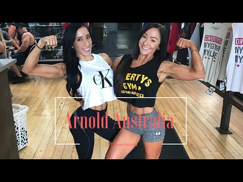 Arnold Australia Trip/ peak week work out/ athlete check ins/  athlete meet && greet