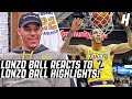 Lonzo Ball Reacts To Lonzo Ball Highlights!