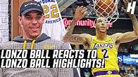 Lonzo Ball Reacts To Lonzo Ball Highlights!