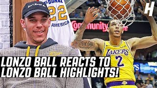 Download Lonzo Ball Reacts To Lonzo Ball Highlights! Mp3 and Videos