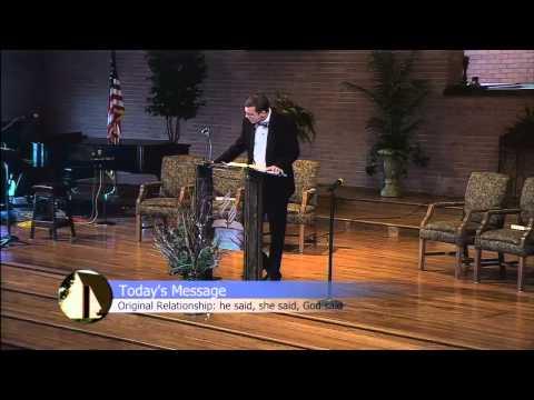 Original Relationship:  he said, she said, God said by Micheal Goetz 1/17/15 Video Sermon