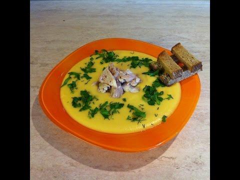Суп-пюре куриный с овощами и сыром. Мамулины рецепты