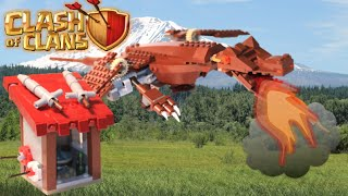 "LEGO Clash of Clans ""Dragon and Barracks"" MOC Review"