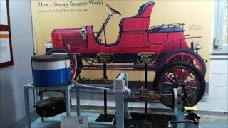 Kelly Shows Us How A Stanley Steamer Works At the Marshall Steam Museum