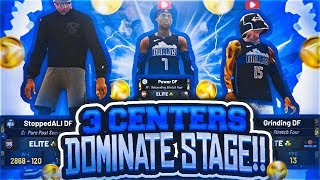 RUNNING 3 CENTERS PT.5 ON $25,000 COURT AT STAGE! BEST DEMIGOD BUILDS DOMINATE NBA 2K19