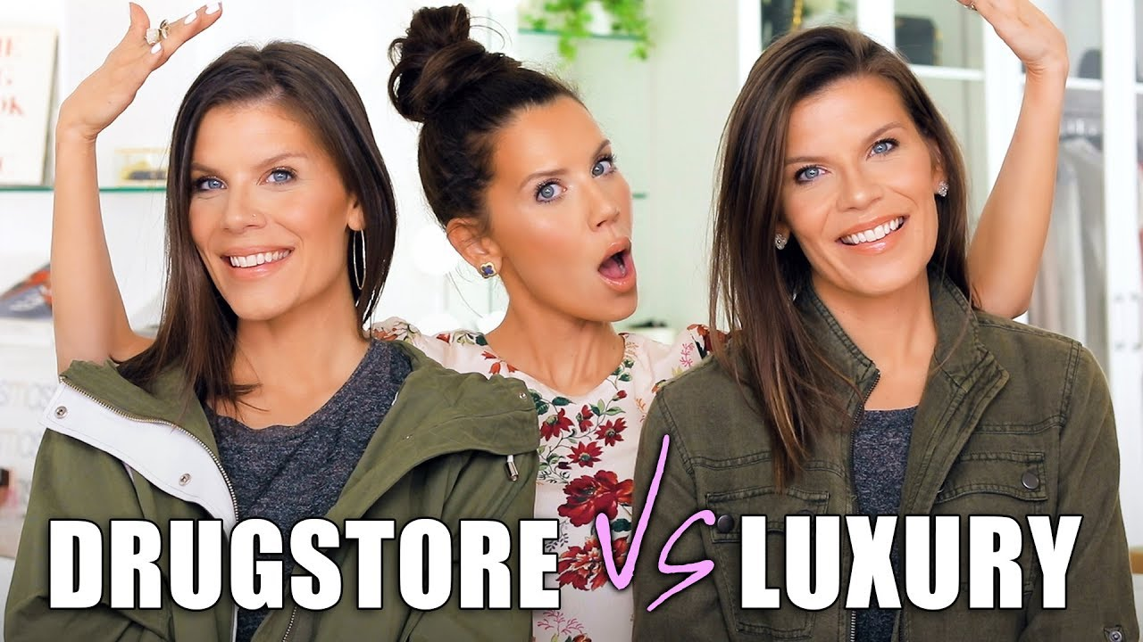 LUXURY vs. DRUGSTORE DUPES on my TWIN SISTERS image