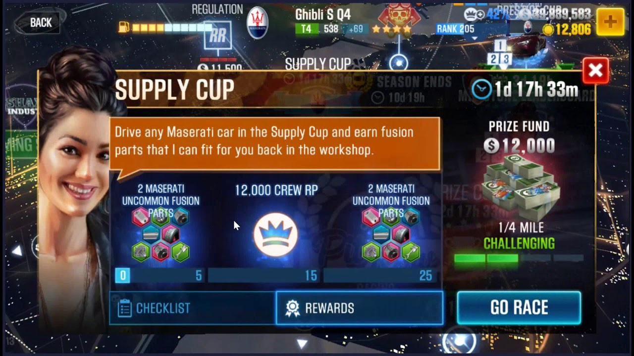 Repeat CSR2 Easier Masarati Ghibli Supply Cups Tips from Max