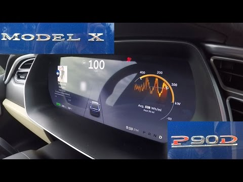Quickest SUV in the World, Tesla Model X P90D Ludicrous 0-60 MPH, 0-100 MPH Tests