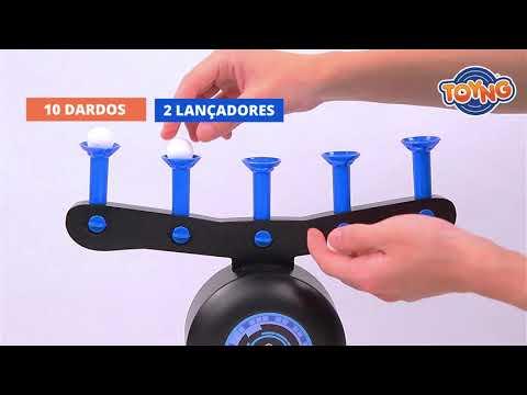 Lançador de dardos com alvos móveis - Shot Fun - 43559