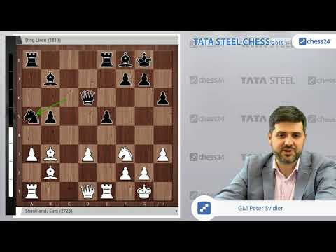 Shankland-Ding Liren, Tata Steel Chess 2019: Svidler's Game of the Day