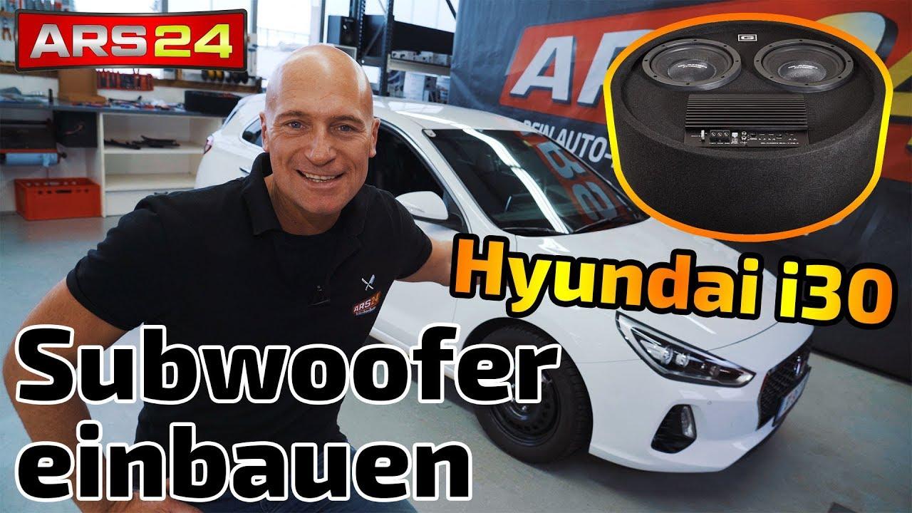 hyundai i30 subwoofer nachr sten gladen rs 08 rb dual. Black Bedroom Furniture Sets. Home Design Ideas