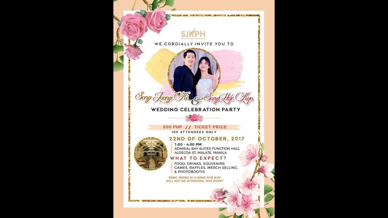 Song Joong Ki Hye Kyo Wedding Celebration Party In Real Life Sweet Moments