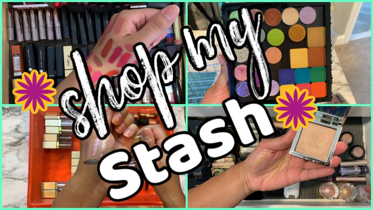 SHOP MY STASH WITH ME   Everyday Makeup Drawers