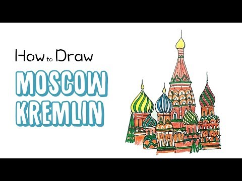 How to Draw the Moscow Kremlin
