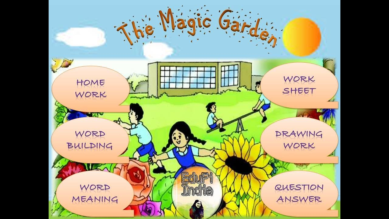 The Magic Garden Ncert Exercise Worksheet Class 3 English Question Answers Difficult Words Youtube
