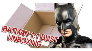 Batman The Dark Knight life size bust by Sideshow Collectibles UNBOXING