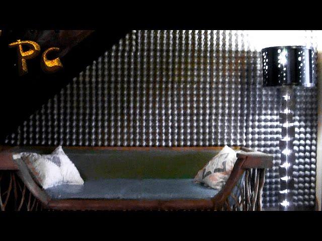 Дизайн стен из яичных лотков