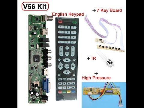 видео: скалер v56(он же v59 со старым процессором)universal lcd tv controller driver board