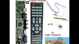 скалер V56(он же V59 со старым процессором)Universal LCD TV Controller Driver Board