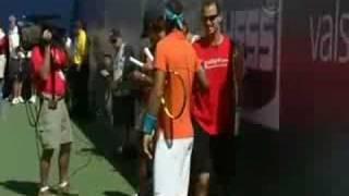 2008 US Open kid's day Nadal, Federer, Serena and Davenport