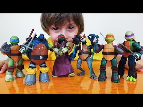 ✿ Черепашки Ниндзя все наборы Mutation - Обзор игрушки с Арсением (Часть 2)
