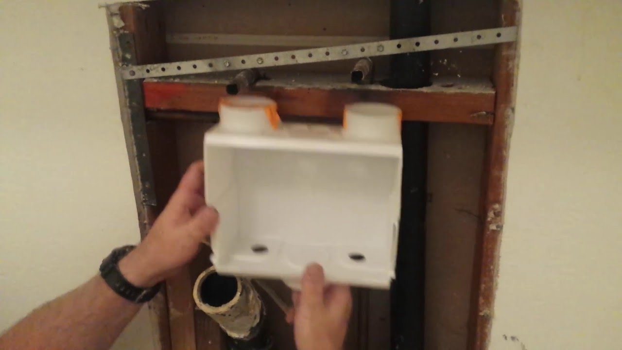 Installation Of Sharkbite Washer Hookups Pt2