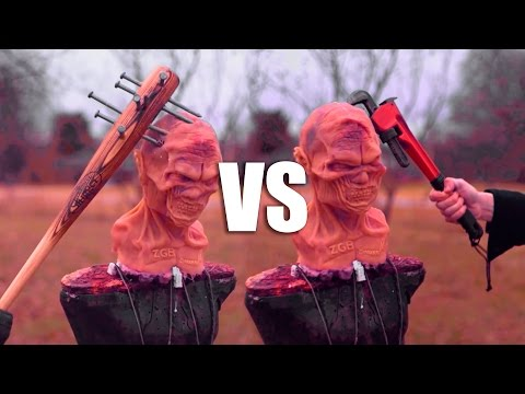 SPIKED BAT VS MODIFIED PIPE WRENCH! ZOMBIE WEAPONS SHOWDOWN!