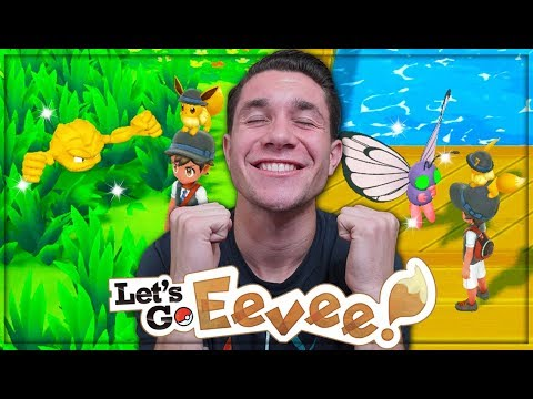 Pokémon Let's Go PRO SHINY HUNT + ROAD TO POKÉMON GO PARK CONTINUES! Evolving SHINY Pikachu!